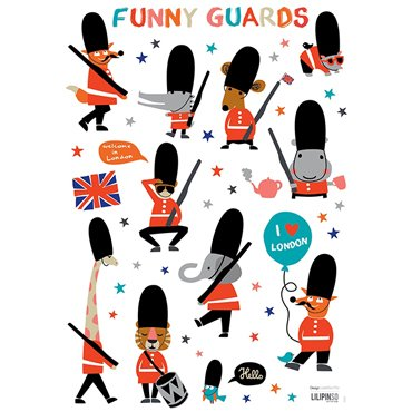 Lilipinso Muurstickers Fun Royal Guards