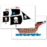 Speckled House Muurstickers Piratenschip