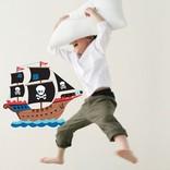 Speckled House Muurstickers Piratenschip