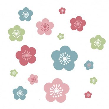 Speckled House Muurstickers Lentebloemen