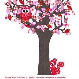 Studio Poppy Behangboom Bosdieren roze 001 A
