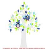 Studio Poppy Behangboom Uil groen 001 A (stam verkrijgbaar in diverse kleuren)