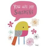 Lilipinso Muurstickers Vogel You are my Sunshine