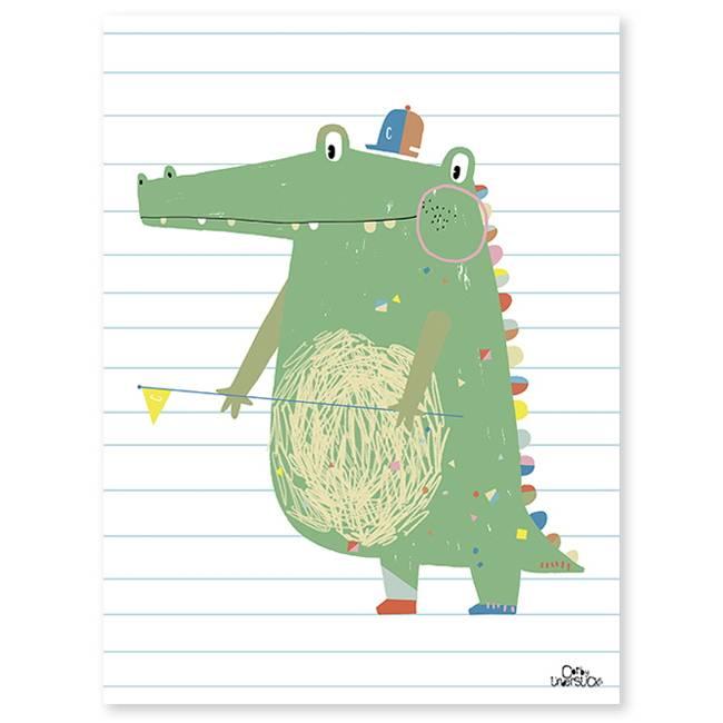 Lilipinso Poster Vrolijke Krokodil