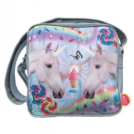 De Kunstboer Kindertas Squarebag Unicorns grey
