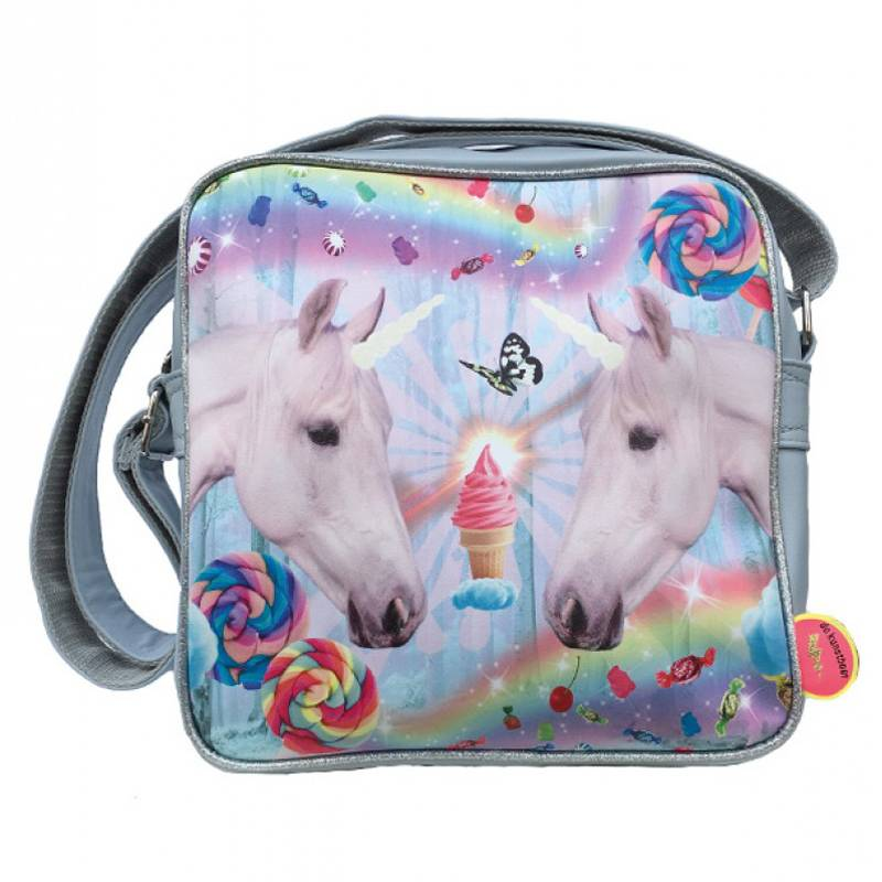 De Kunstboer Kindertas Squarebag Unicorns grey