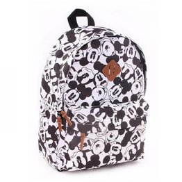 Kidzroom Kinderrugzak Black and White Mickey My Little Bag Large