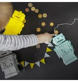 KG Design spaarpot robot licht grijs