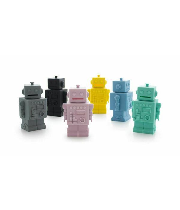 KG Design spaarpot robot blauw