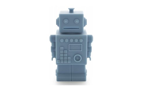 KG Design piggy bank robot blue
