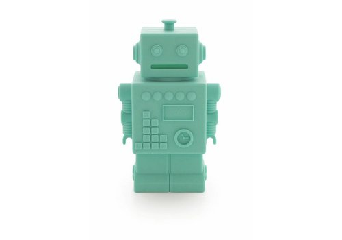 KG Design piggy bank robot mint
