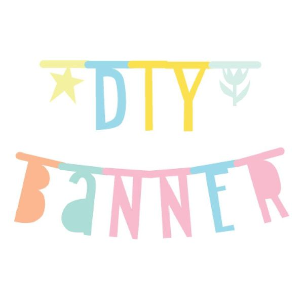 letter pastel banner