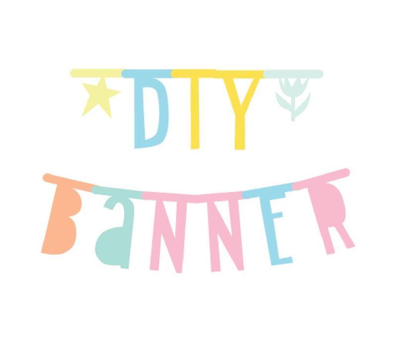 A Little Lovely Company letter banner pastel