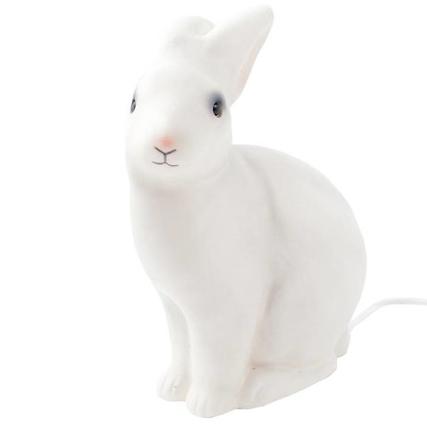 Heico rabbit lamp white pink snout