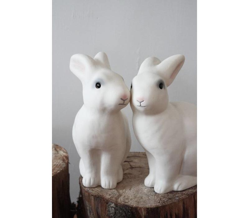 Heico konijn lamp wit roze snoetje