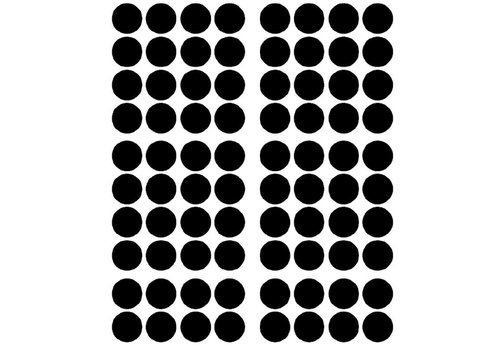 Pom le Bonhomme 80 wall stickers dots black 3.5cm