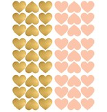 Pom le Bonhomme 54 wall stickers hearts gold pink