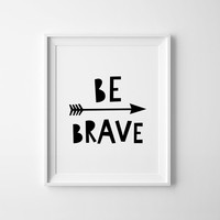 Mini Learners be brave poster A3