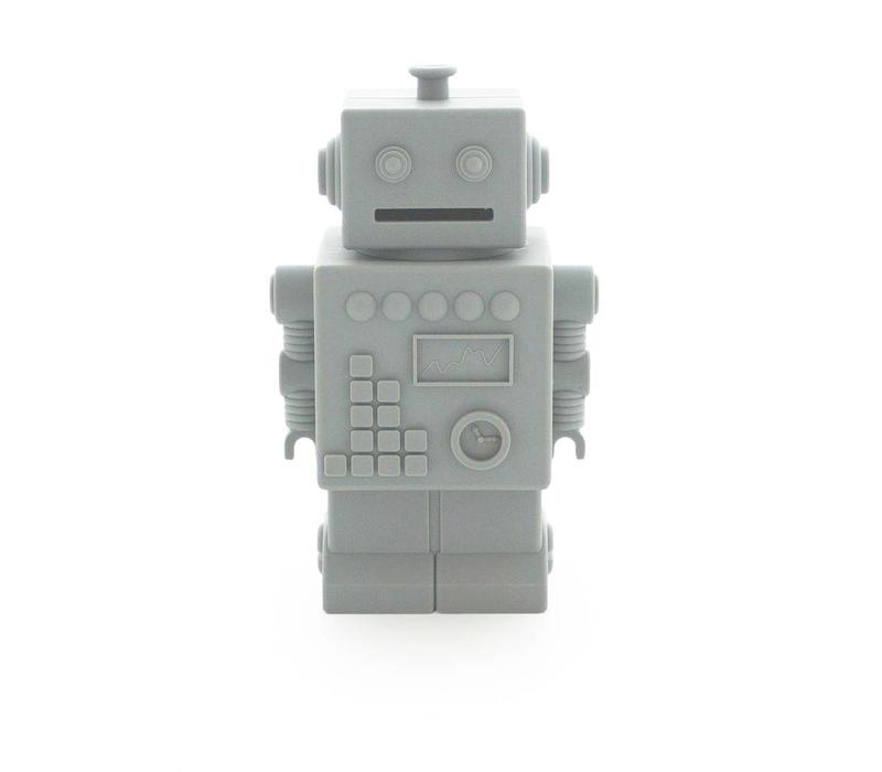 KG Design piggy bank robot light gray