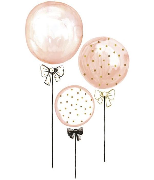 muurstickers ballonnen xl mevrouw aardbei. Black Bedroom Furniture Sets. Home Design Ideas