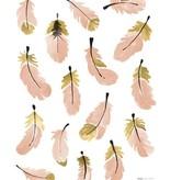 Lilipinso muurstickers veertjes roze