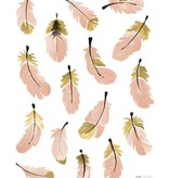 Lilipinso wall stickers feathers pink