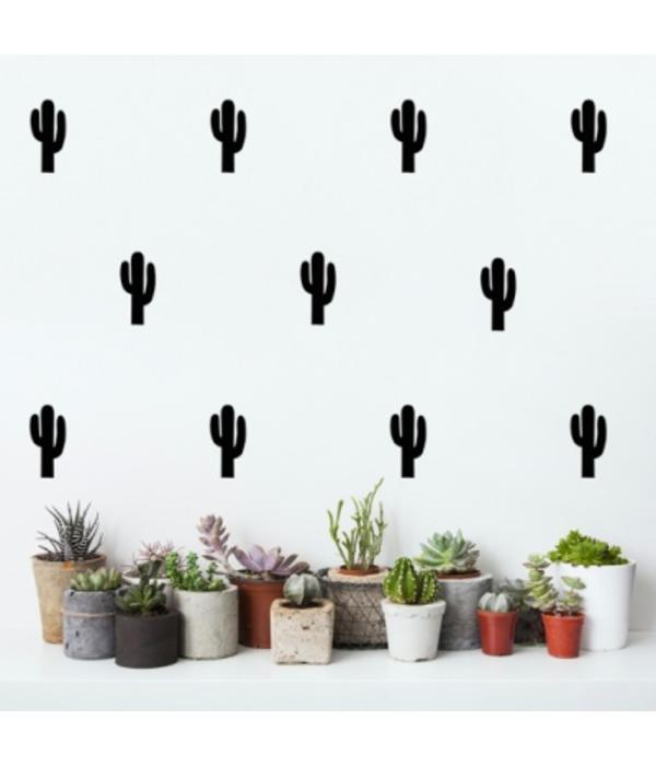 Pom le Bonhomme 30 wall stickers cactus black