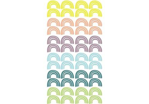 Pom le Bonhomme muurstickers regenboog pastel