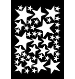 Mevrouw Aardbei 47 wall stickers stars off white