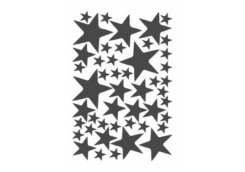 Mrs. Strawberry 47 wall stickers star dark gray