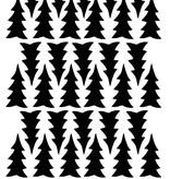 Mevrouw Aardbei 36 muurstickers dennenboom 5 cm