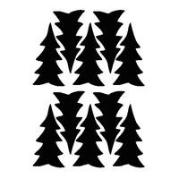 Mevrouw Aardbei 10 muurstickers dennenboom 10 cm