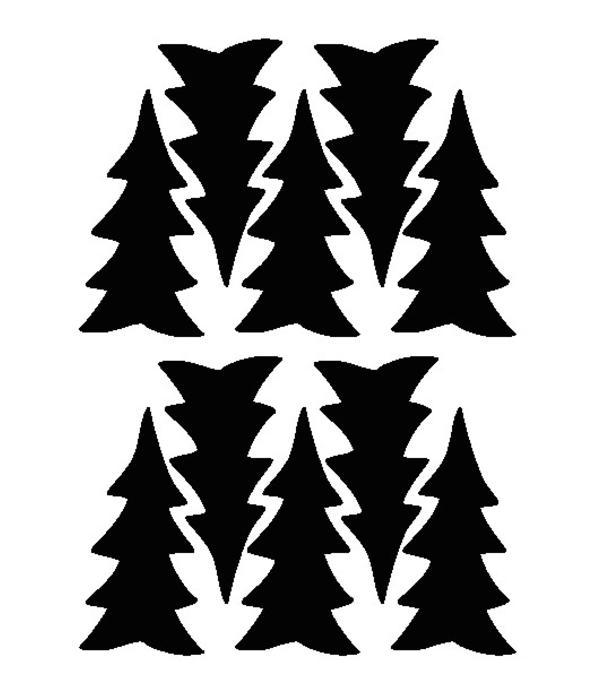 Mevrouw Aardbei 10 wall stickers pine tree 10 cm