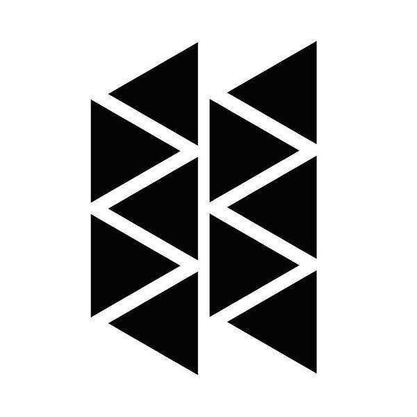 Mrs Aardbei 10 wall stickers triangle 8 cm