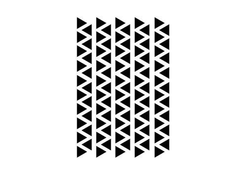 Mevrouw Aardbei 95 wall stickers triangle 2.2 cm