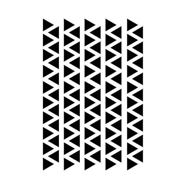 Mrs Aardbei 95 wall stickers triangle 2.2 cm