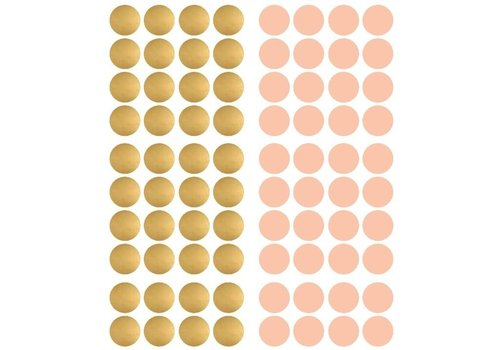 Pom le Bonhomme 80 wall stickers polka dots gold 3.5cm