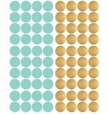 Pom le Bonhomme 80 wall stickers dots gold mint 3.5cm