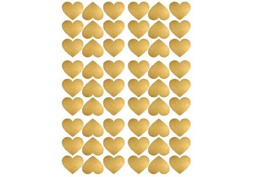 Pom le Bonhomme 54 Wandaufkleber Gold-Herzen