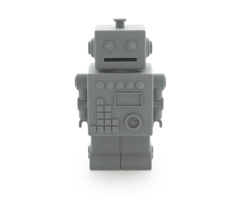 KG Design piggy bank robot dark gray