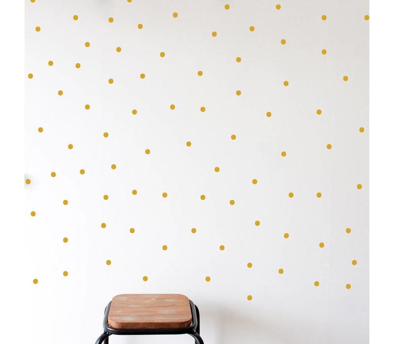 Mevrouw Aardbei 280 wall stickers dots gold 1 cm