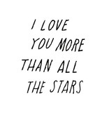 Shanna Murray wall sticker all the stars - black