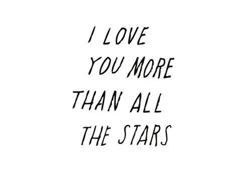 Shanna Murray muursticker all the stars - zwart