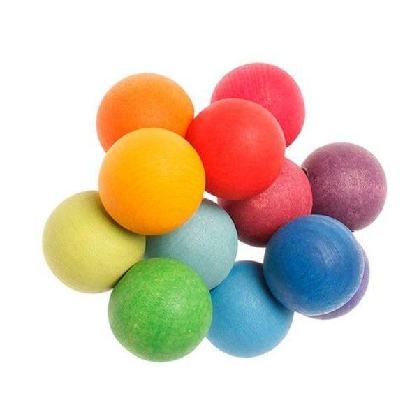 beads clamshell rainbow