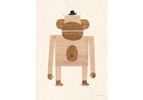 Walnut & Walrus poster monkey 50x70