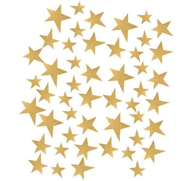 50 muurstickers sterren goud