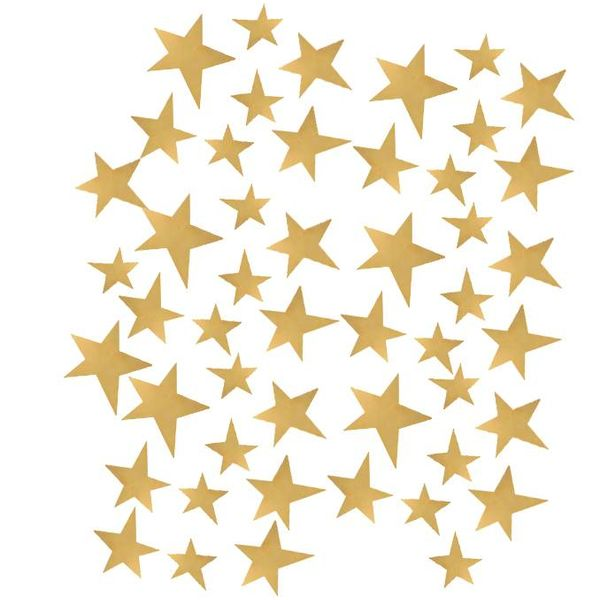 Pom le Bonhomme 50 wall stickers stars gold