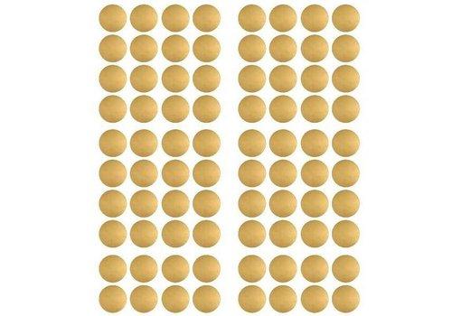 Pom le Bonhomme 80 Wandaufkleber Goldpunkte 3.5cm
