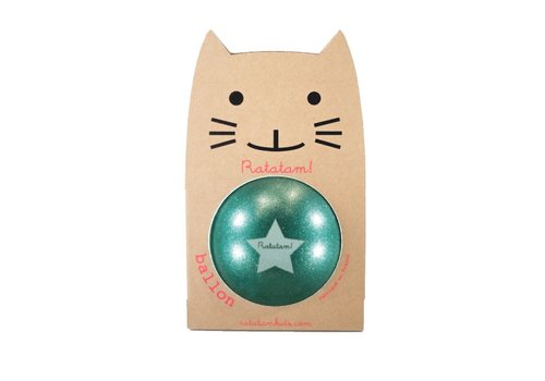 Ratatam glitter ball green big