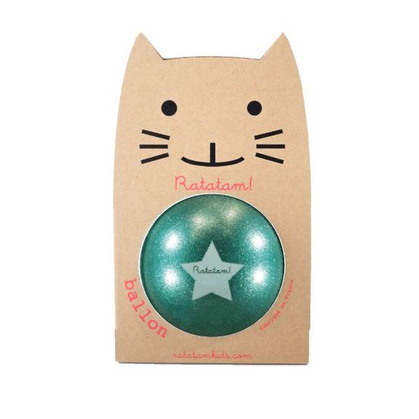 Ratatam glitter ball green big